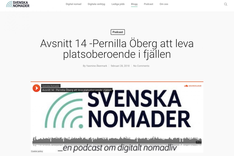 Svenska Nomader Podcast Pernilla 2018
